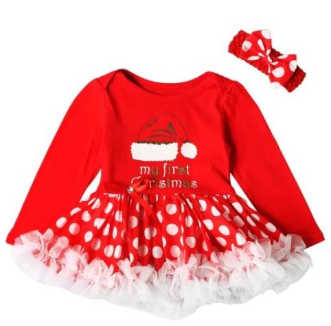 sukienka świąteczna dla niemowląt