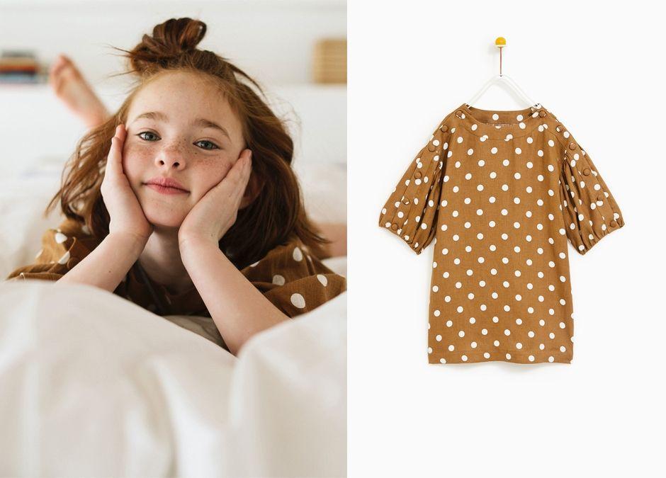 sukienka w groszki Zara dla dziewczynki na okazje rodzinne