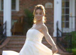 suknia ślubna, krótka suknia ślubna, suknia ślubna dla ciężarnej, suknia ślubna dla kobiety w ciąży