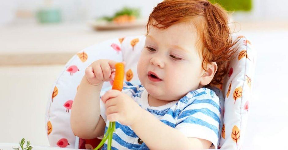 surowe warzywa dla niemowlaka