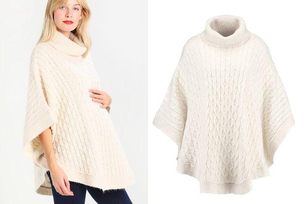 sweter typu ponczo