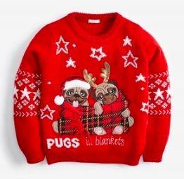 Sweter z pieskami