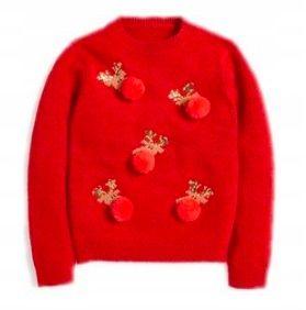 Sweter z pomponami