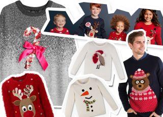 swetry świąteczne dla rodziny