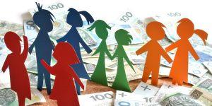 Świadczenie rodzinne, pieniądze, banknoty, dzieci, zasiłek