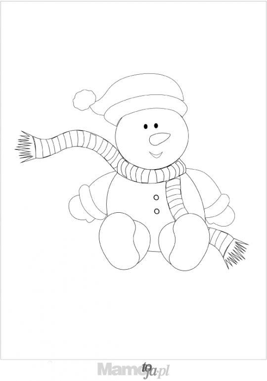bałwanek  - kolorowanki Boże Narodzenie