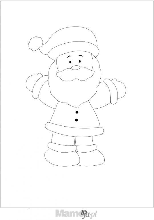 Mikołaj - kolorowanki Boże Narodzenie