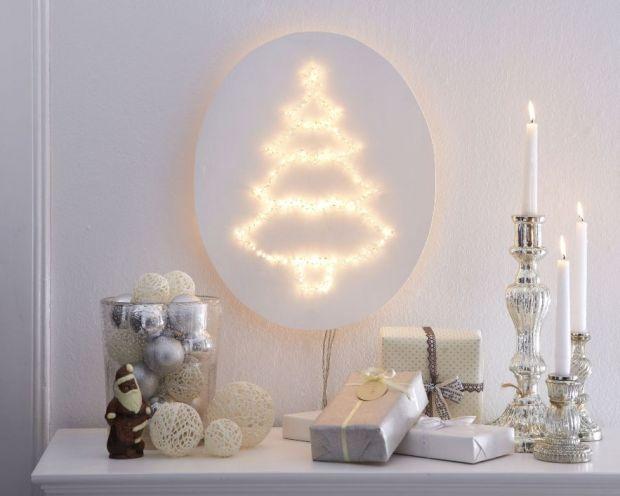świąteczna lampa ścienna, boże narodzenie, pomysł na świąteczną dekorację, bożonarodzeniowa dekoracja, choinka