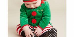 świąteczne ubranka dla dzieci, strój elfa