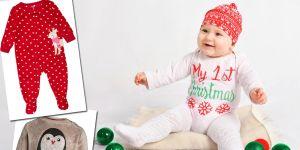Świąteczne ubranka dla niemowlęcia