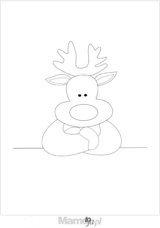 reniferek  - kolorowanki Boże Narodzenie