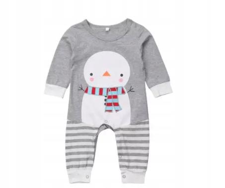 rampers świąteczny dla niemowląt