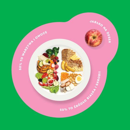 Warzywa i owoce na połowie talerza to połowa sukcesu