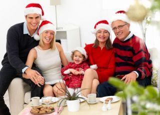 święta, Boże Narodzenie, rodzina, dziecko, choinka