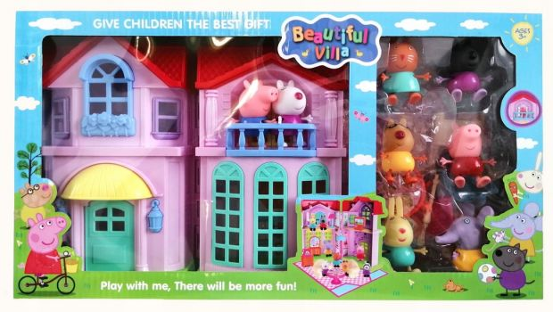 świnka peppa zabawki domek