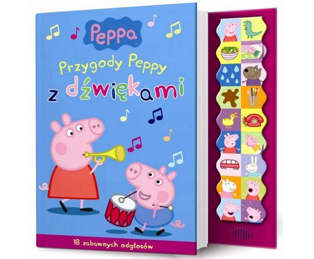 świnka peppa zabawki książeczka dźwiękowa