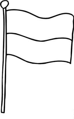 symbole narodowe kolorowanki do wydruku - flaga