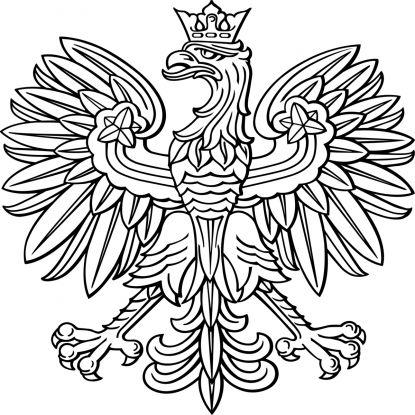 symbole narodowe kolorowanki do wydruku: godło