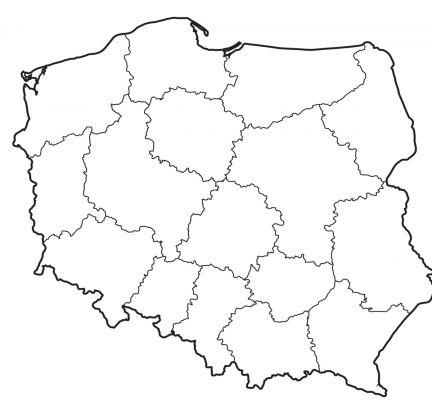symbole narodowe kolorowanki do wydruku: mapa