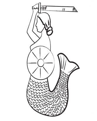 symbole narodowe kolorowanki do wydruku: syrenka