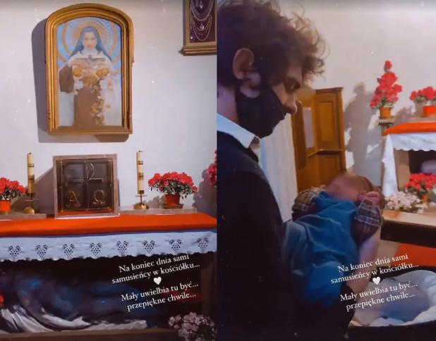 synek Idy Nowakowskiej w kościele
