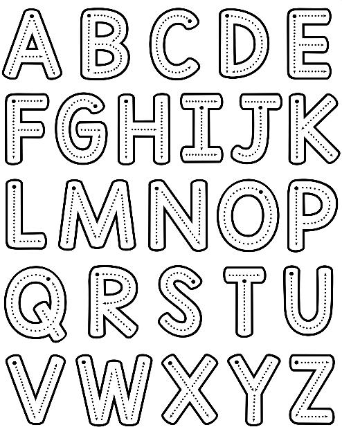 szablony liter do druku duże litery