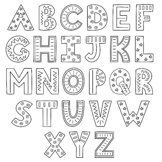 szablony liter do druku duże wesołe litery
