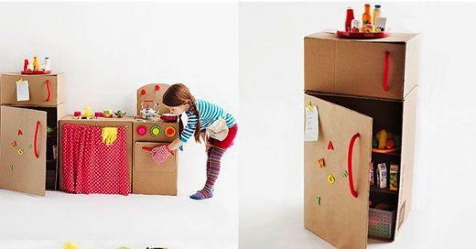 szafki, szafki z tektury, zabawki, zrób to sam
