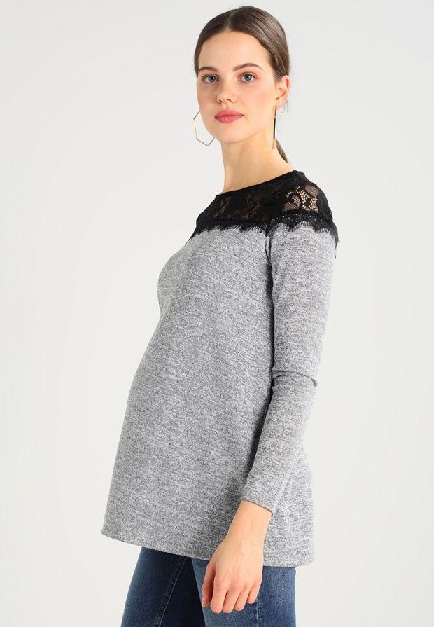 sweterek ciążowy z koronką