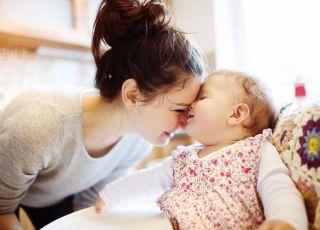Szczęśliwa mama jednego dziecka