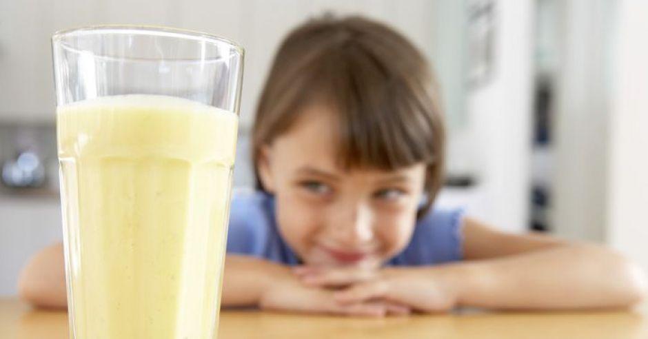 szklanka, dziecko, kuchnia, napój