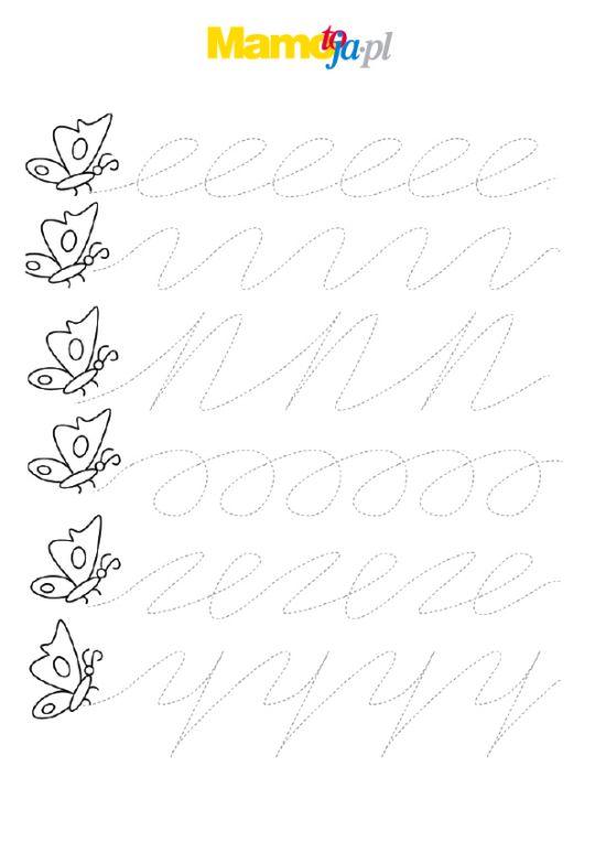 Szlaczki do druku: ślad motyla