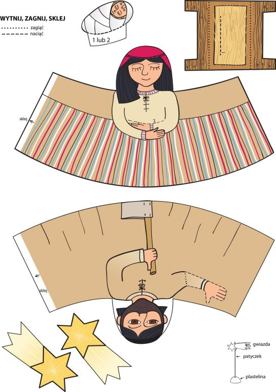 szopka z papieru szablon