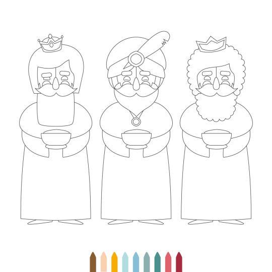 szopka z papieru trzej królowie