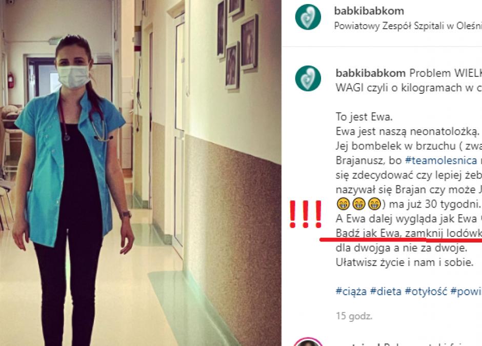 szpital piętnuje kobiety w ciąży z nadwagą