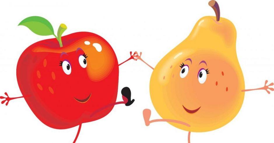 Tańczące owoce - grafika