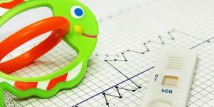 test ciążowy, grzechotka, wykres, dni płodne