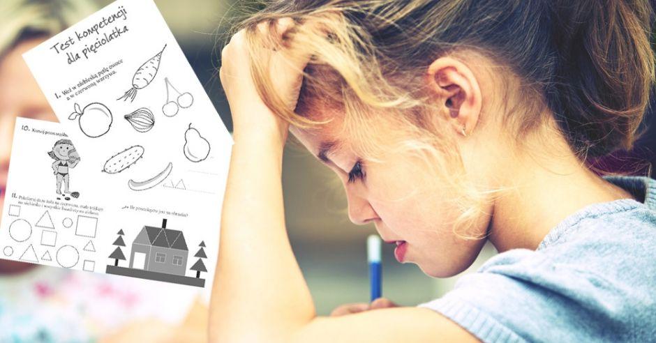 test kompetencji pięciolatka