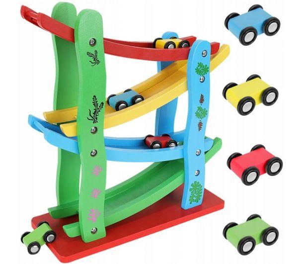 tor samochodowy dla dzieci drewniany