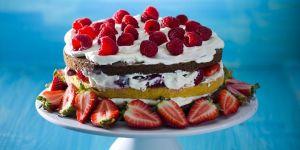 Tort czekoladowy z owocami - przepis na tort
