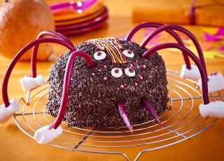 tort pająk, tort na halloweeen