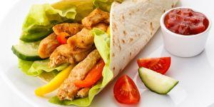 tortilla, naleśnik, nadzienie, kurczak, wrap, warzywa