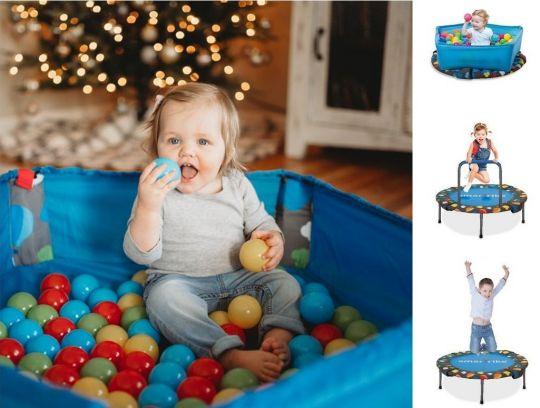 Basen z piłeczkami – trampolina składana Marko