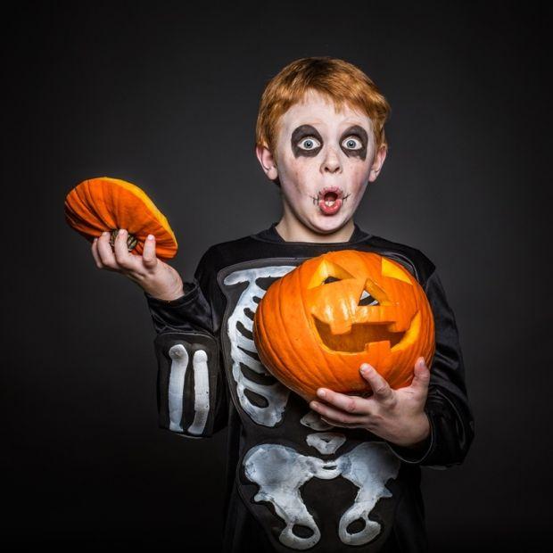 trup makijaż na halloween dla chłopca