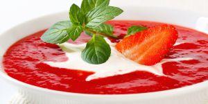 truskawki, mus, owoce, zupa, chłodnik