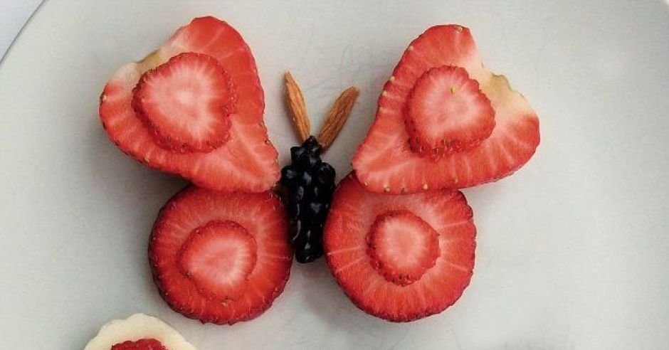 truskawkowe motylki
