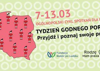 Tydzień godnego porodu plakat, Fundacja Rodzić Po Ludzku