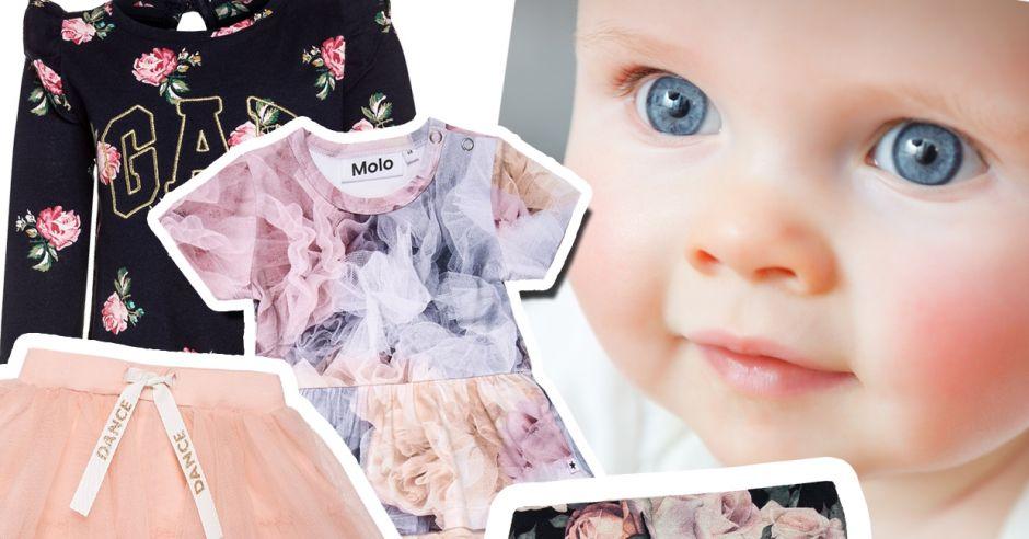 ubranka w różyczki i z tiulem dla niemowląt najpiękniejsze