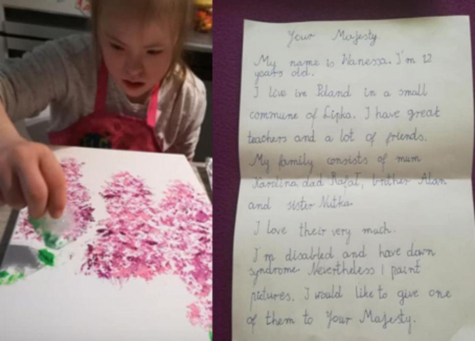 Vanessa napisała do królowej