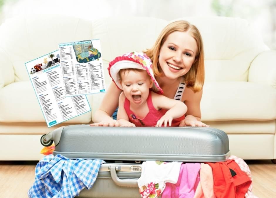 wakacje, walizka, dziecko